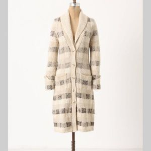 Anthropologie far away from close bent sweatercoat